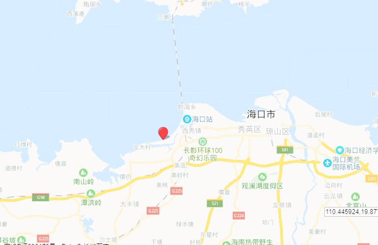 中信国安海岸 位置图