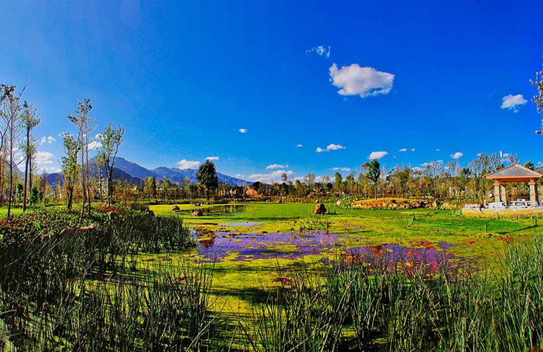 汉华天马山国际温泉度假区 富民湿地公园