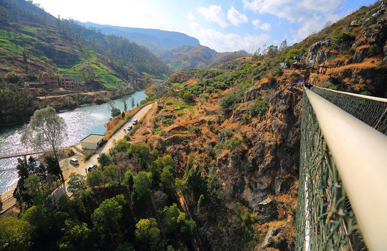 汉华天马山国际温泉度假区 天之桥景点