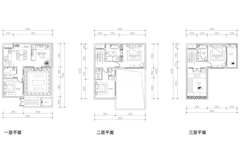汉华天马山国际温泉度假区 合院沐风户型 4室2厅4卫1厨 168㎡