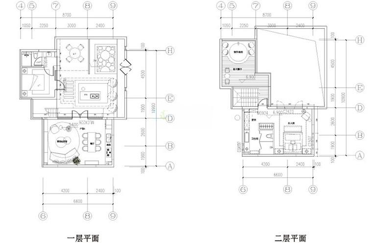 汉华天马山国际温泉度假区 合院栖峰户型 2室2厅2卫1厨 91㎡