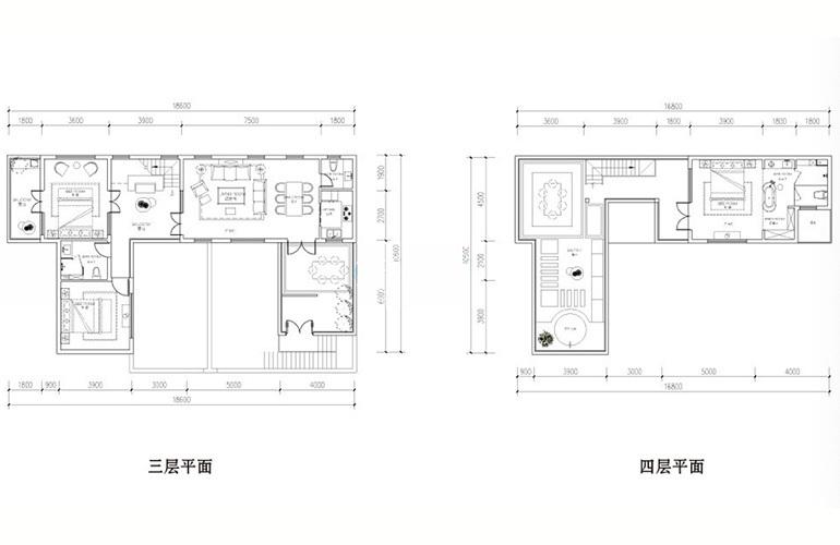 汉华天马山国际温泉度假区 叠拼瞰山户型 3室2厅2卫1厨 129㎡