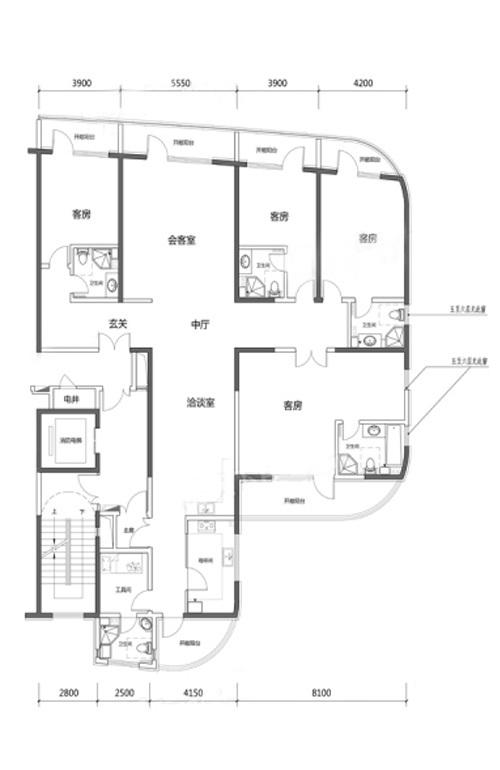 4室3厅5卫1厨 338.29㎡