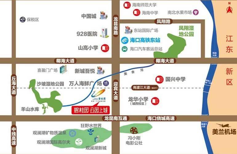 碧桂园公园上城区位图