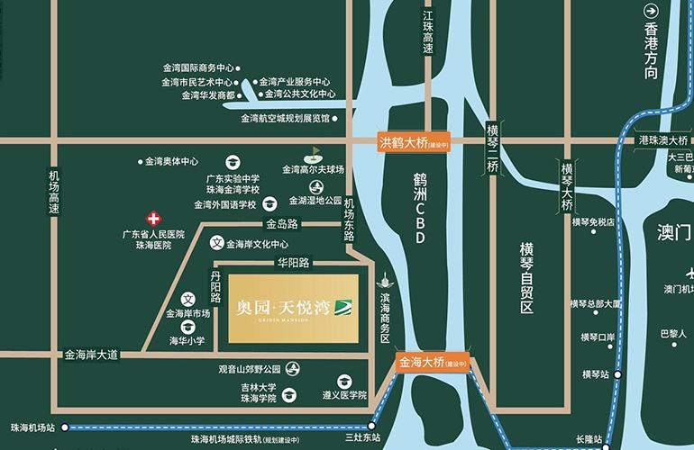 奥园天悦湾区位图