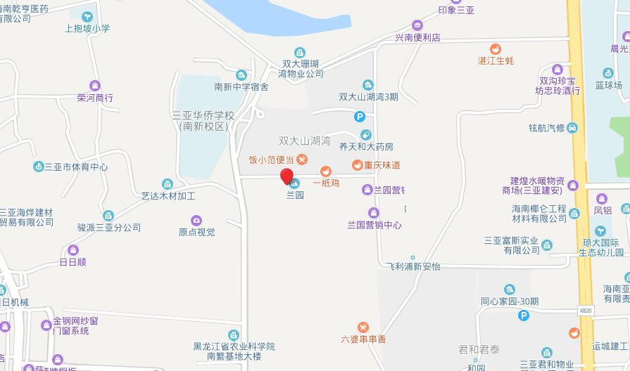 三亚蘭园 区位图