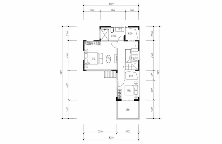 恒大养生谷 合院A户型六合二层 4室2厅3卫1厨 建面183.44㎡