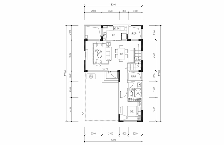 恒大养生谷 合院A户型六合一层 4室2厅3卫1厨 建面183.44㎡