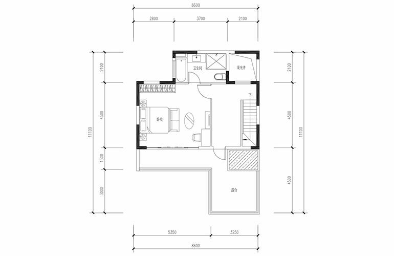 恒大养生谷 合院A1户型六合三层 4室2厅3卫1厨 建面183.44㎡