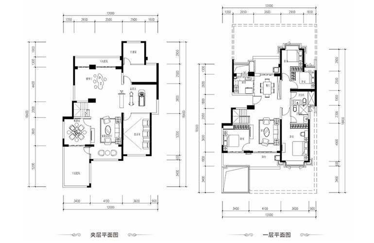 恒大养生谷 花园洋房A1′户型 4室2厅2卫1厨 建面151.49㎡