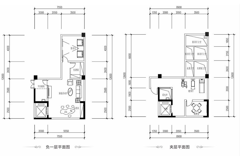 恒大养生谷 叠墅B户型下层 3室2厅3卫1厨 建面139.5㎡