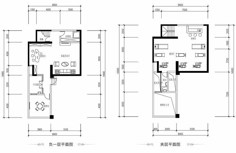 恒大养生谷 叠墅A户型下层 3室2厅3卫1厨 建面163.01㎡