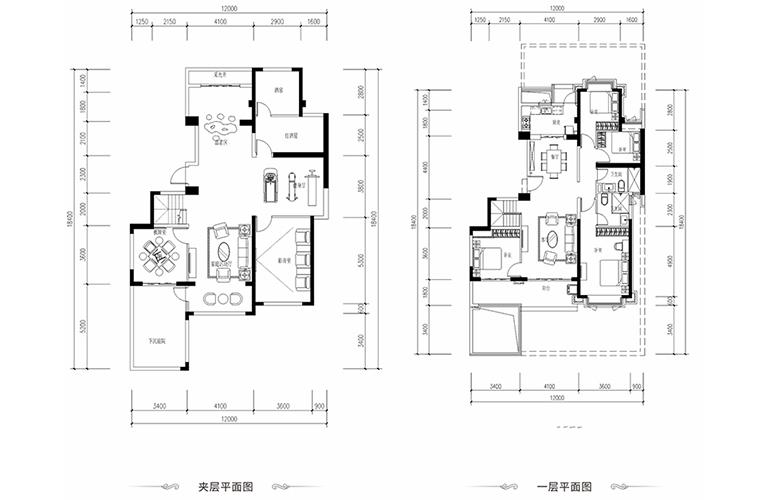 恒大养生谷 花园洋房A2户型 4室2厅2卫1厨 建面147.58㎡