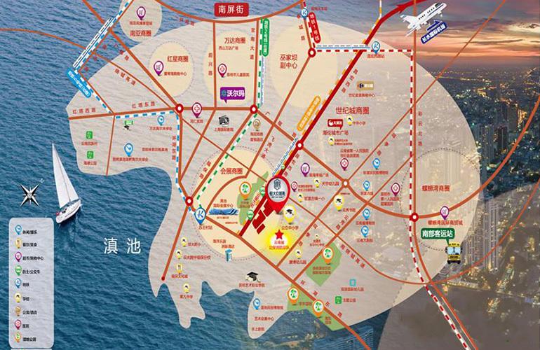 恒大玖珑湾区位图