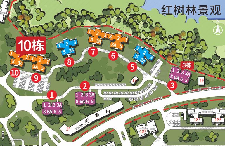 富力红树湾  D04-2区7栋平面分布图