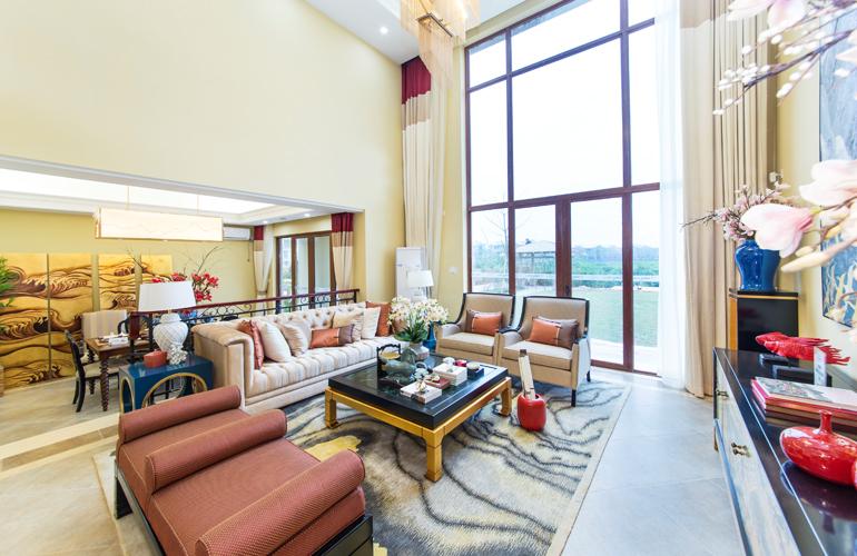 富力红树湾 样板间:客厅