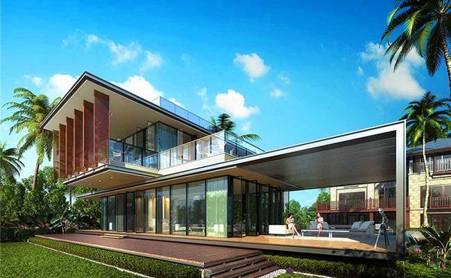 三亚国玺二十五院在售亲海别墅房源,总价约2500万/套