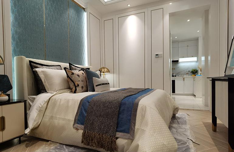 景园美麓城样板间:卧室