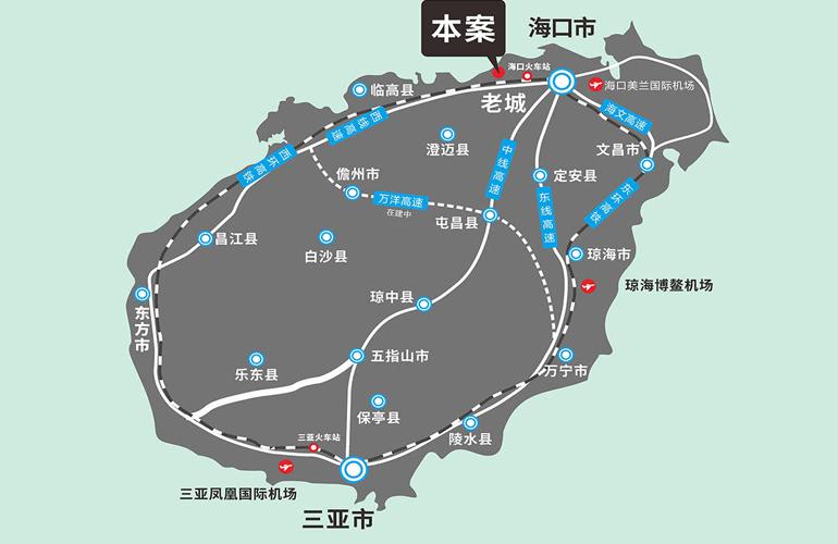 景园美麓城 交通图