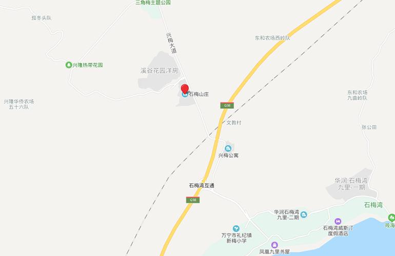 石梅山庄 区位图