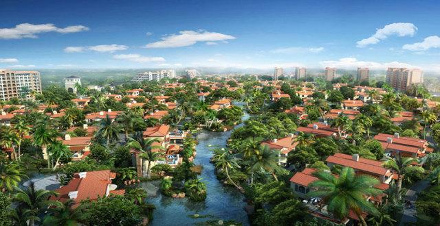 定安滨湖水岸项目,首创森林湖建面103㎡到105㎡的养老住宅在售,均价8800元/㎡