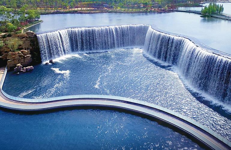 碧桂园北城映象 瀑布公园