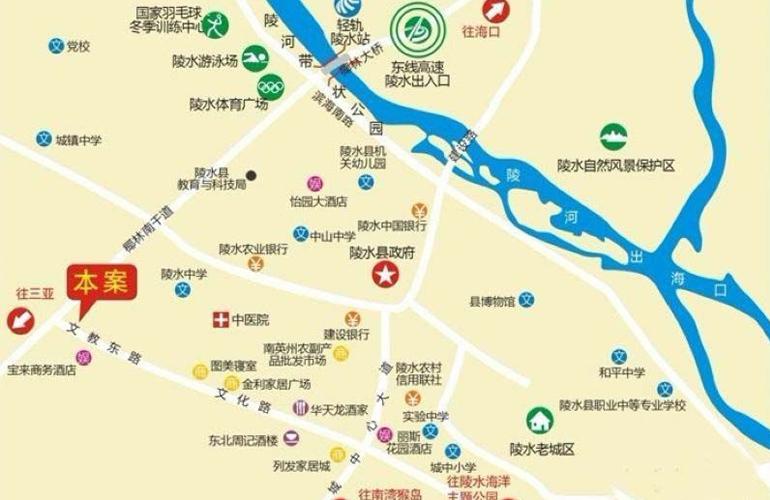 汇丰广场区位图