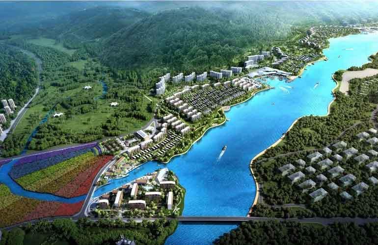 中信国安海岸 鸟瞰图