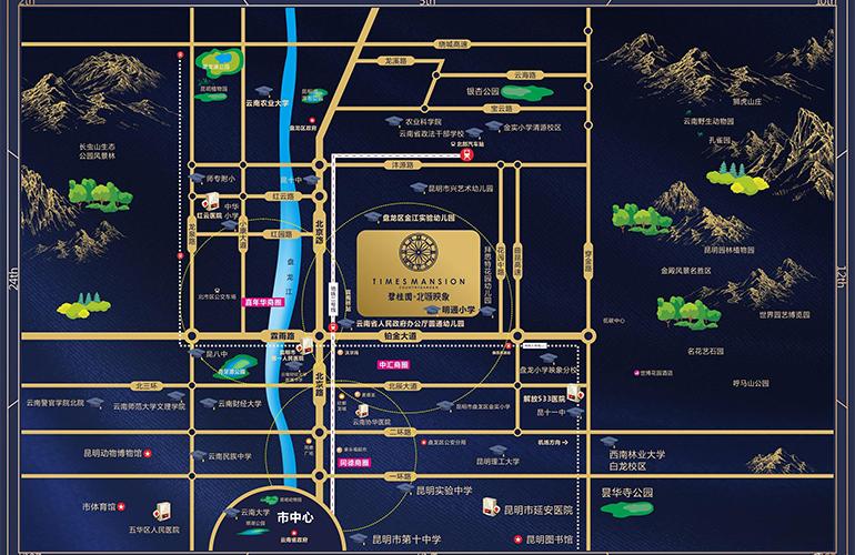 碧桂园北城映象区位图