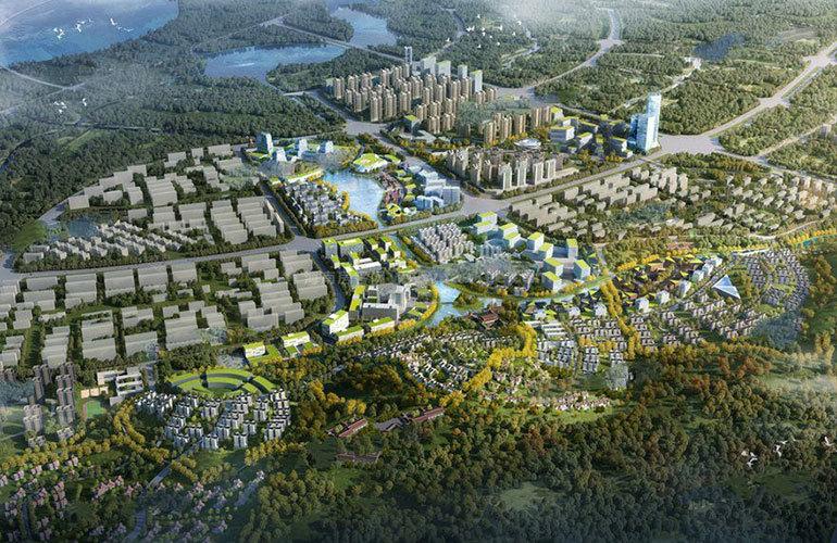 绿地滇池国际健康城 鸟瞰图