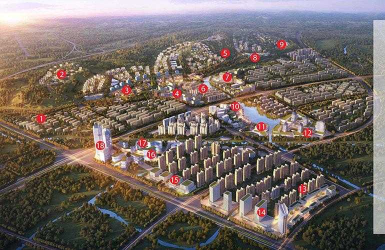 绿地滇池国际健康城 规划图