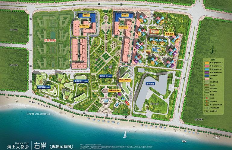 碧桂园海上大都会 规划图