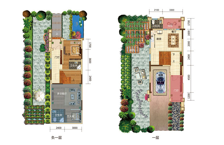 枫丹耀兴公馆 B户型 5室2厅6卫 建面229㎡