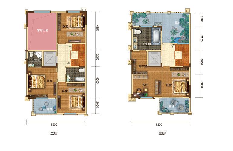 枫丹耀兴公馆 A户型 5室2厅5卫 建面290㎡