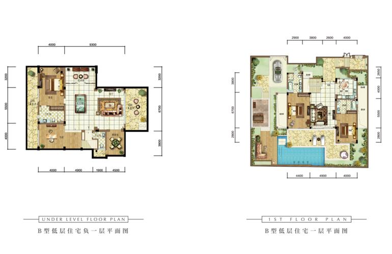 雅居乐清水湾 B户型  5室2厅4卫 建面144㎡