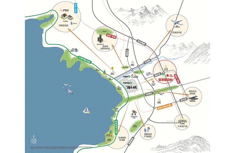 绿地海之城 区位图