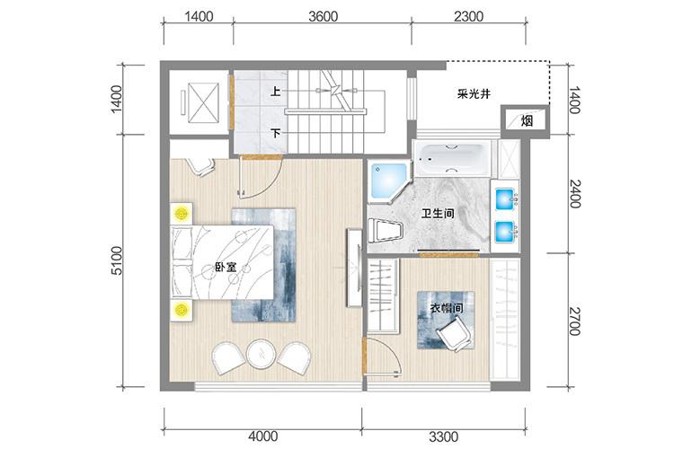 春城365 臻墅户型三层 3室3厅5卫1厨 实得面积356㎡
