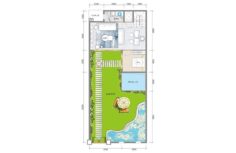 春城365 藏墅户型一层 5室5厅6卫1厨 实得面积502㎡