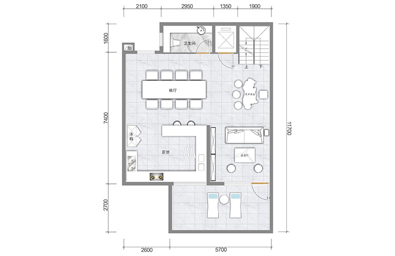 春城365 藏墅户型夹层 5室5厅6卫1厨 实得面积502㎡