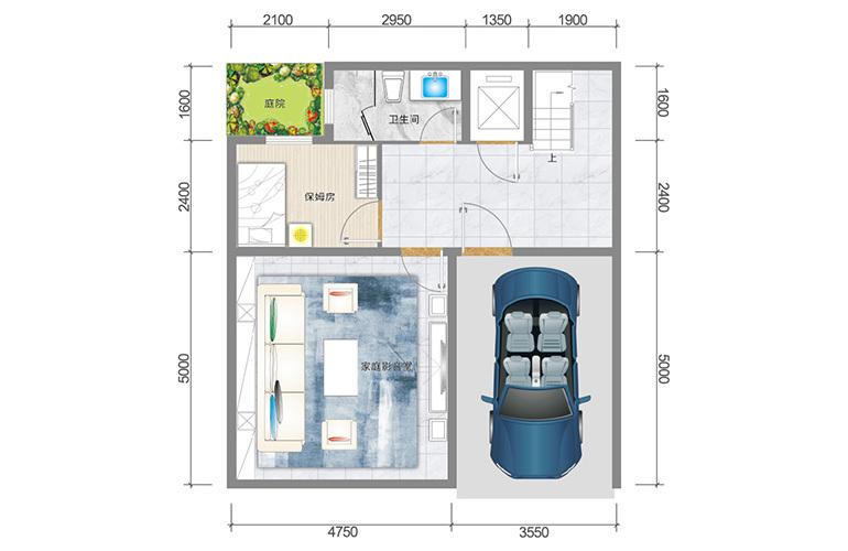 春城365 藏墅户型负一层 5室5厅6卫1厨 实得面积502㎡