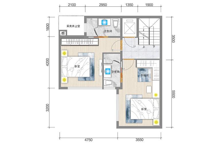 春城365 藏墅户型二层 5室5厅6卫1厨 实得面积502㎡