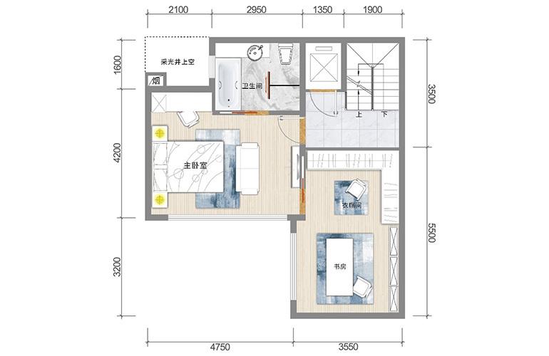 春城365 藏墅户型三层 5室5厅6卫1厨 实得面积502㎡