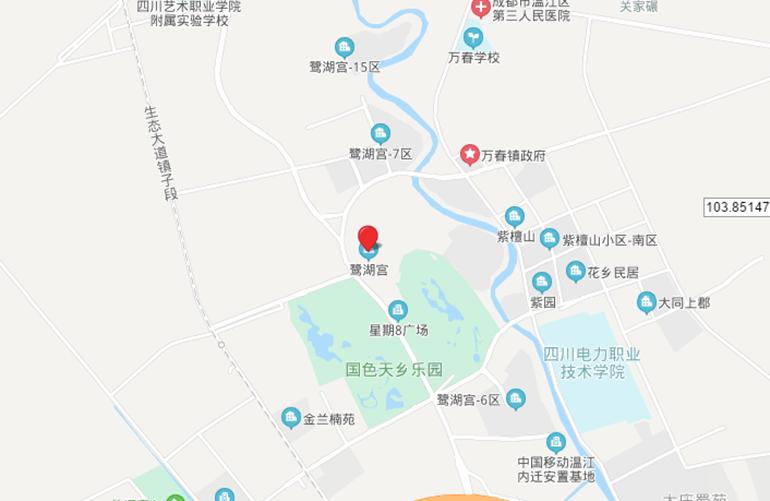 国色天乡鹭湖宫 区位图