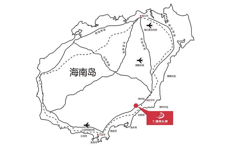 香江温泉人家 区位图