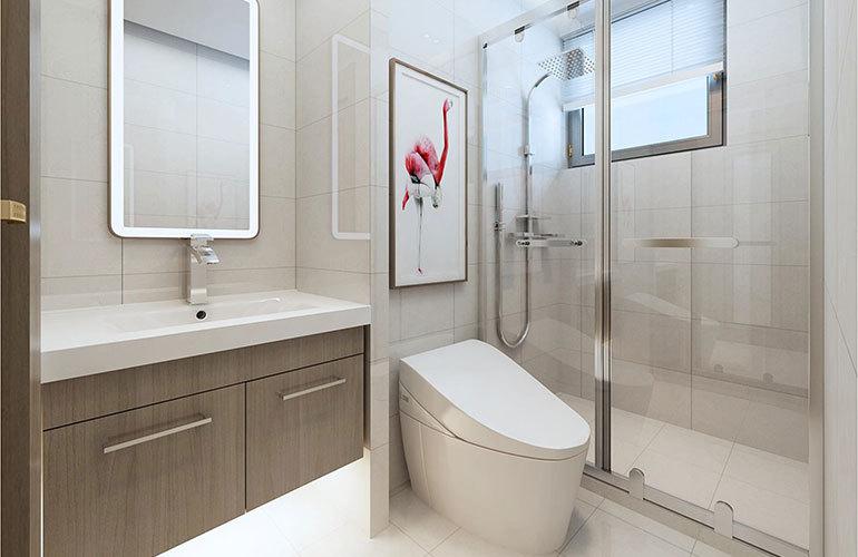 香江温泉人家 公寓浴室