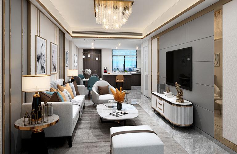 香江温泉人家 公寓客厅