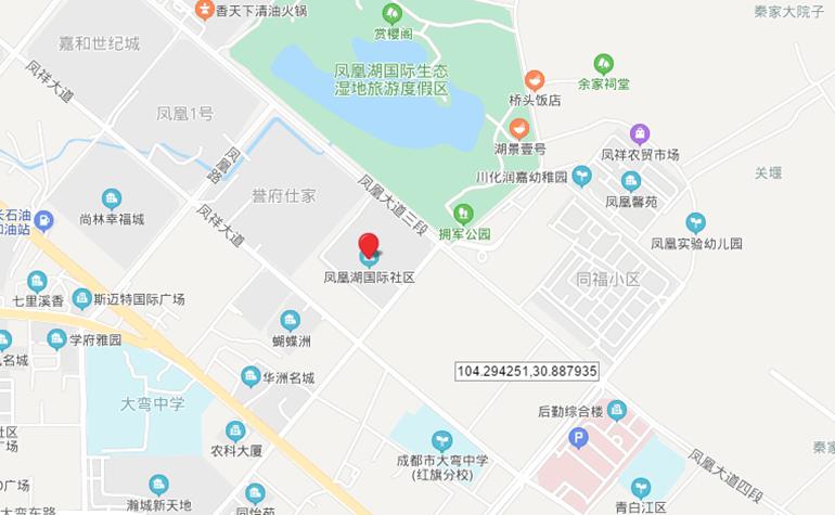 凤凰湖国际社区区位图