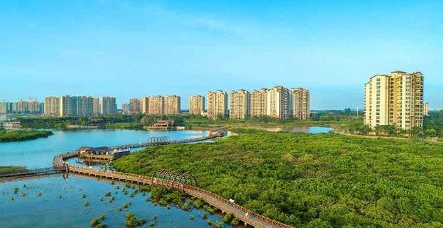 澄迈富力红树湾湿地公园畔景观高层房源优惠在售,总价99万/套