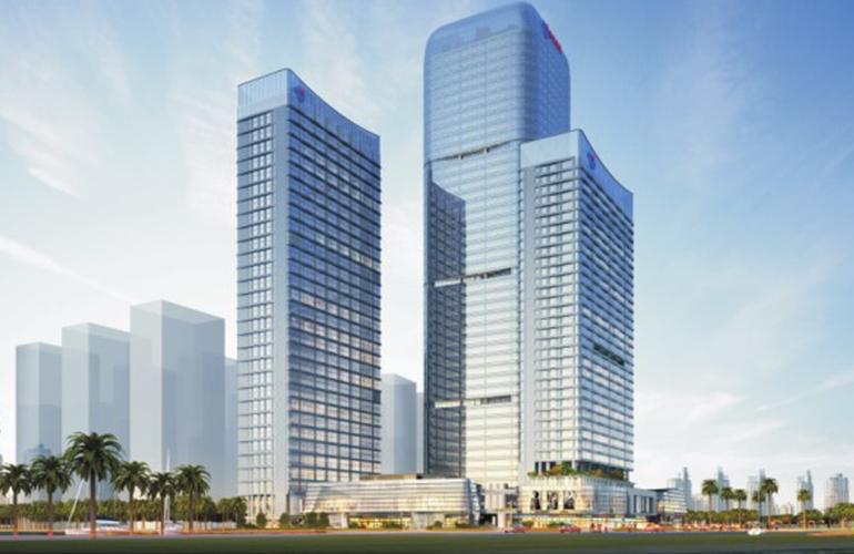 珠海珠江国际金融中心的LOFT层高有4.9米,可以自由装修办公空间