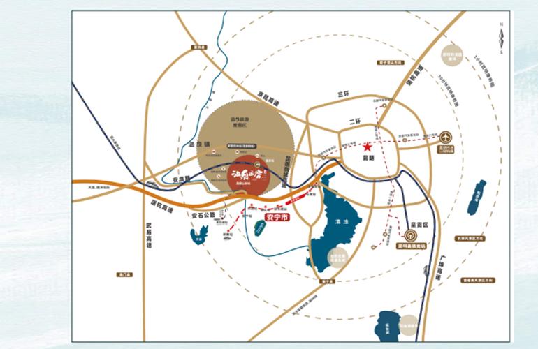 温泉山谷 区位图